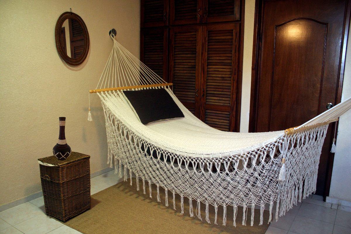 Bella Y Confortable Hamaca De Macrame Stilos Dvn 100 Arte_mlm F